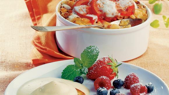 Gebackene Spinatnudeln mit Mozzarella Rezept
