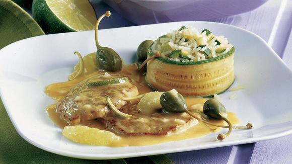 Kalbsschnitzel in Limetten-Kapernsauce Rezept