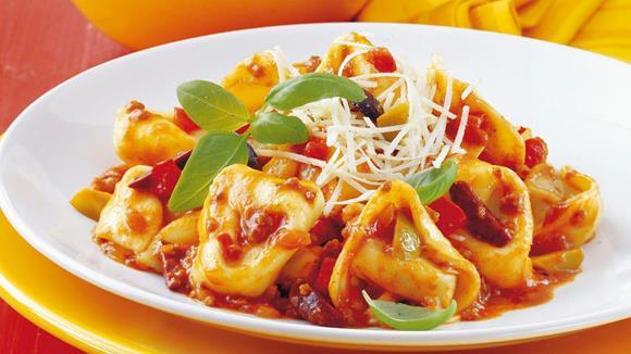Tortellini mit Oliven-Pasta Asciutta Rezept