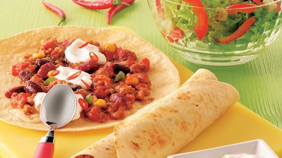 Tortillas mit feurigem Chili Rezept