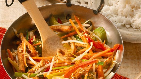 Asiatische Gemüsepfanne Rezept