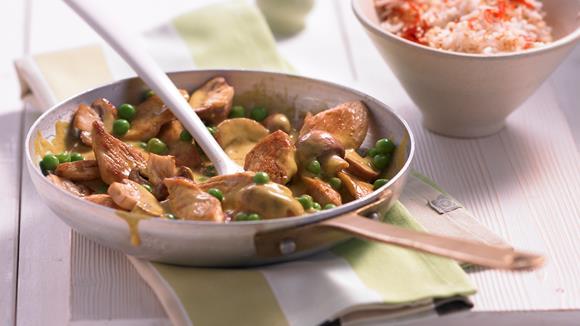 Chinesisches Rindfleisch mit Erbsen und Lauch Rezept