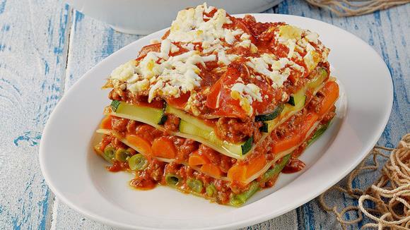 Kürbis-Zucchini Lasagne