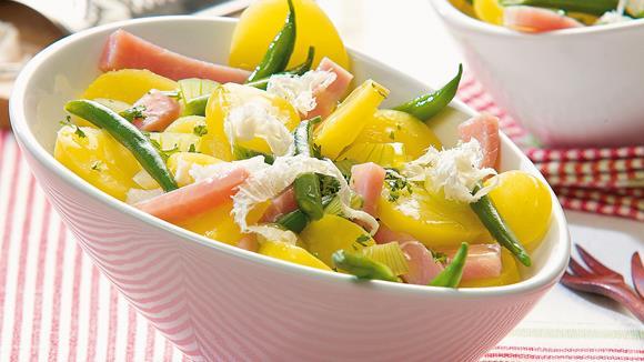 Kartoffel-Fisolen-Salat mit frischem Kren Rezept