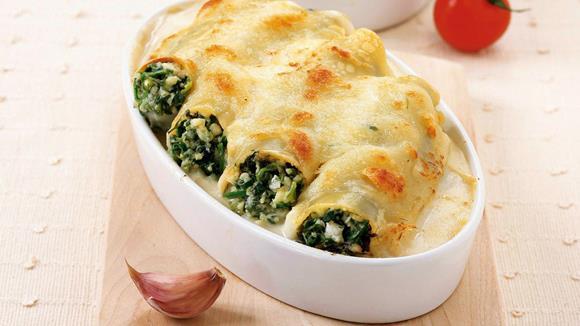 Cannelloni mit Bärlauch und Schafskäse Rezept