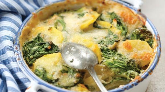 Kartoffel-Spinat-Auflauf Rezept
