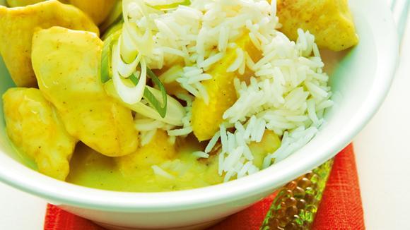 Maharaja-Teller mit Pouletbrust und Ananas