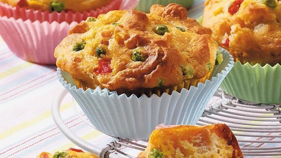 Gemüse-Muffins mit Schinken