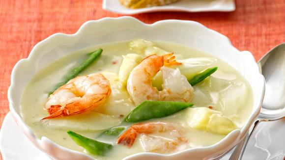 Asparagus soup with shrimp recipe