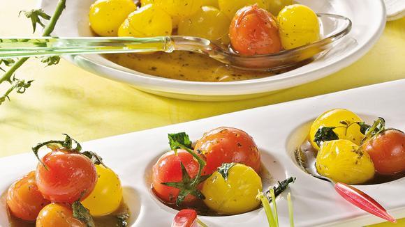 Marinierte Cherry-Tomaten mit Melisse