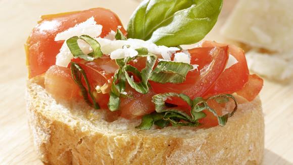 Bruschetta mit Cherry-Tomaten