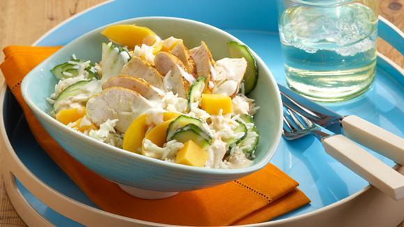 Poulet-Reis-Salat