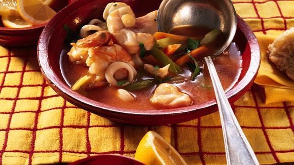 Mallorquinischer Fischtopf mit Sellerie und Rüebli Rezept
