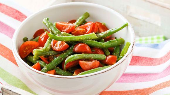 Bohnensalat mit Cherry-Tomaten