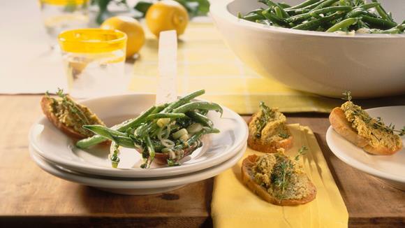 Bohnensalat mit Minze