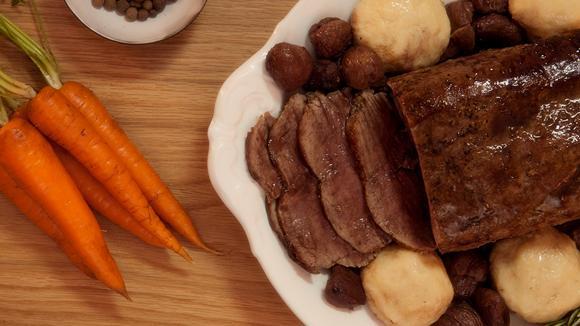 Roastbeef mit karamellisierten Marroni