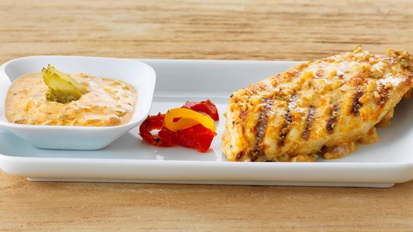 Peperoni-Marinade mit Essiggurke für Pouletfleisch