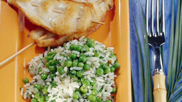 Kräuter-Reis mit Erbsen