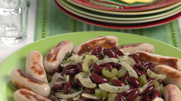 Bohnen-Fenchel-Sellerie-Salat mit Cipollata