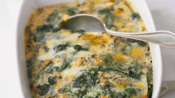 Spinat-Lasagne mit Gorgonzola