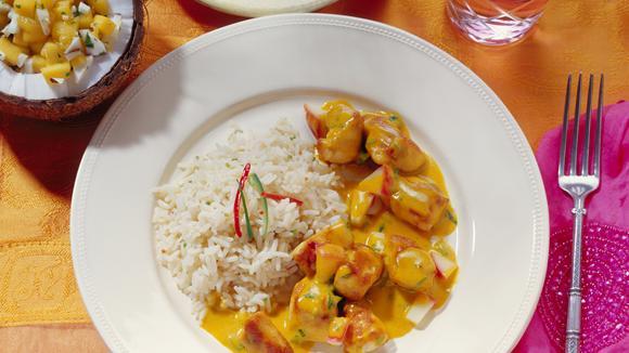 Curry mit Poulet und Asia-Gemüse Rezept