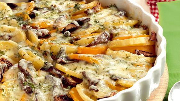 Ostschweizer Kartoffel-Kürbis-Gratin