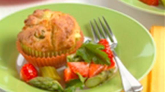 Westschweizer Spargel-Morchel-Muffins