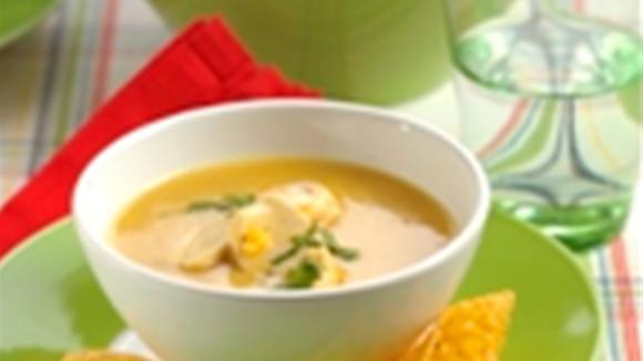 Corn curry soup with chicken recipe
