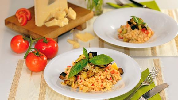 Tomaten-Auberginen-Risotto
