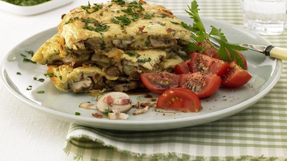 Champignons-Shiitake-Omelette