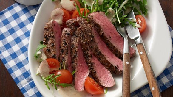 Pfeffersteak-Salat