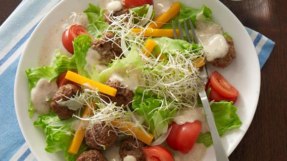 Mini-Hamburger-Salat