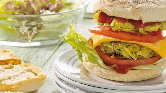 Zucchini-Cheeseburger