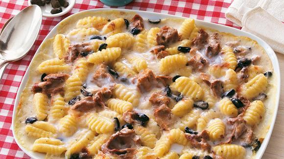 Gnocchi-Gratin mit Thunfisch