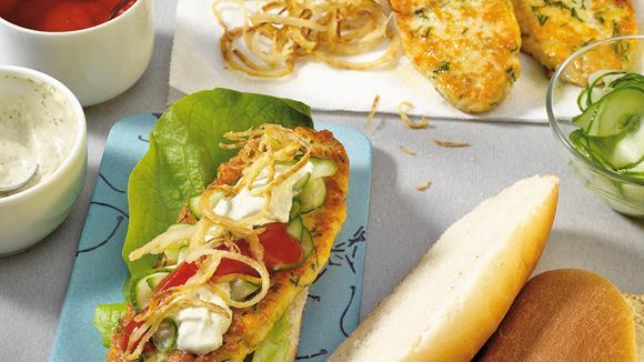 Kabeljau-Hotdog