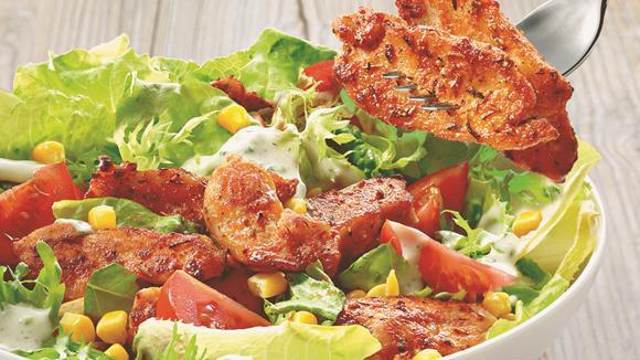 Knorr bunter salat mit paprika hahnchen