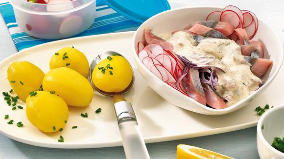 Radieschensalat mit Matjes