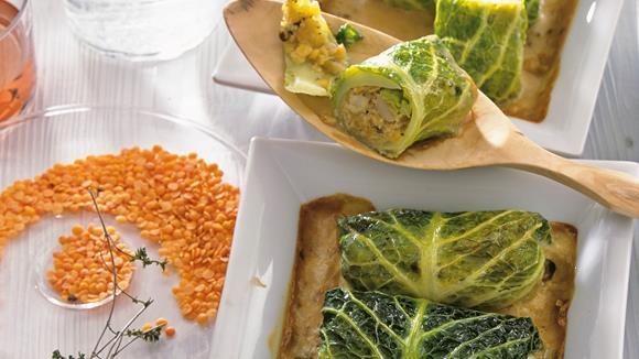 Wirsingröllchen mit Kräutern der Provence Rezept