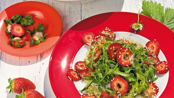 Rucolasalat mit Erdbeeren Rezept