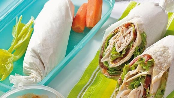 Tortilla-Rollen mit Hähnchenbrust
