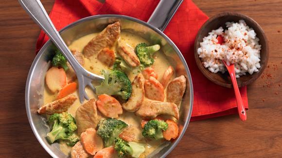curry h hnchen mit brokkoli. Black Bedroom Furniture Sets. Home Design Ideas