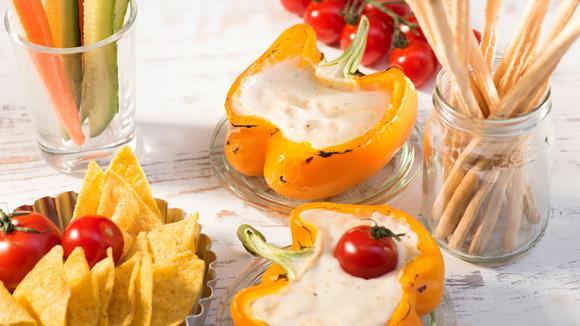 Knoblauch-Käsesauce vom Grill Rezept
