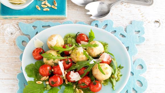 Rucola salat zubereiten