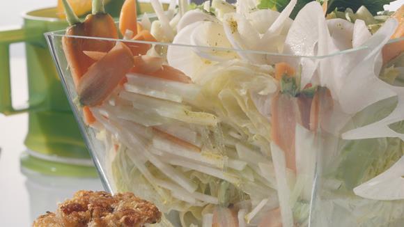 Vital Salat mit Orangen-Senf-Dressing Rezept