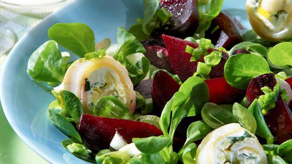 Frühlingssalat mit Heilbutt