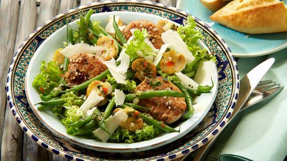 mediterraner salat mit schweinefilet rezept knorr. Black Bedroom Furniture Sets. Home Design Ideas