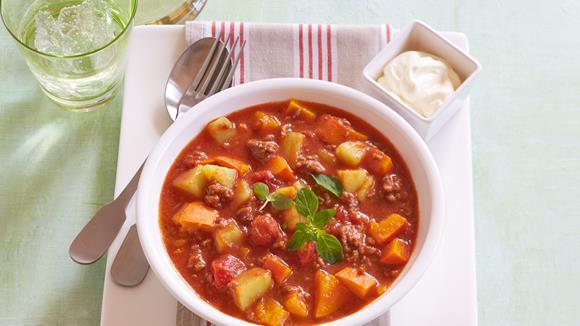 Kartoffel-Kürbis-Chili