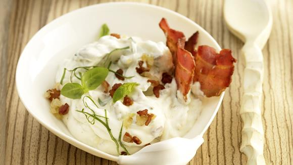 Bacon-Zwiebel-Dip Rezept