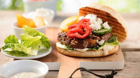 Oriental Style Burger – America meets Orient Rezept