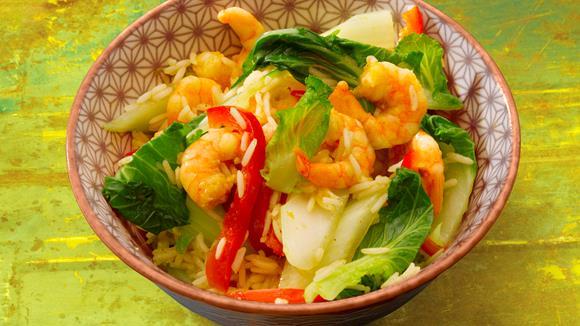 Garnelen in Curry-Sauce Rezept